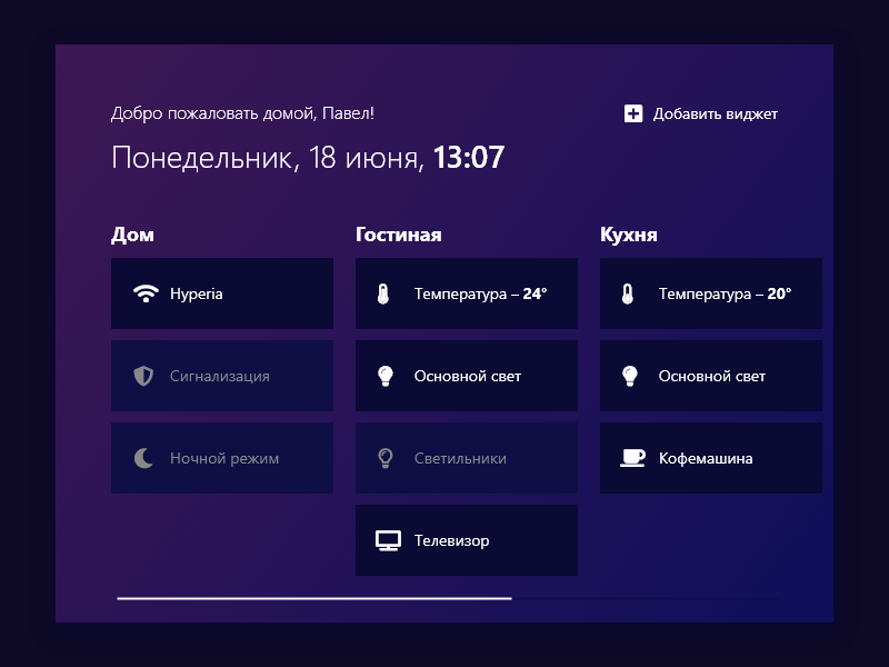 #021 — Home Monitoring Dashboard / Панель управления умным домом